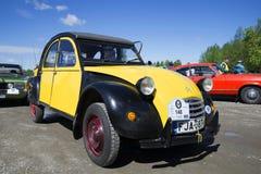 The ugly duckling Citroen 2CV at the parade of vintage cars. Kerimyaki, Finland Royalty Free Stock Image