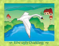 The ugly duckling 20 flying away Royalty Free Stock Photo
