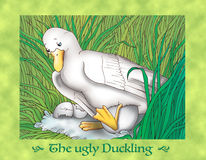 The ugly duckling 1 the nest Royalty Free Stock Photo