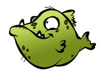 Ugly Fish. A really ugly green fish with ugly teeth and ugly spots Royalty Free Stock Photo