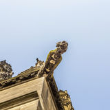 Ugly gargoyle sculpture at the dome Royalty Free Stock Photography