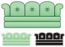 Ugly Green sofa Royalty Free Stock Image