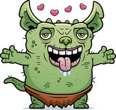 Ugly Gremlin Hug Royalty Free Stock Images