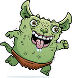 Ugly Gremlin Running Royalty Free Stock Images