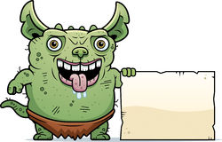 Ugly Gremlin Sign Royalty Free Stock Images