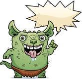 Ugly Gremlin Talking. A cartoon illustration of an ugly gremlin talking Royalty Free Stock Photos