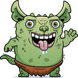 Ugly Gremlin Waving Stock Images