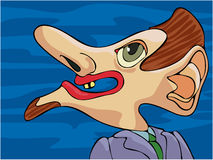 Ugly Guy. Cartoon of a very ugly guy Stock Image
