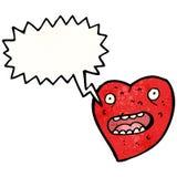 Ugly heart cartoon Stock Photography