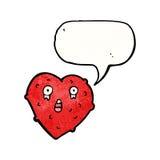 Ugly heart cartoon Royalty Free Stock Photography