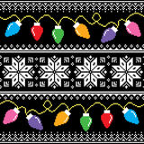 Ugly jumper pattern with Christmas tree lights royalty free illustration