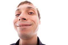 Ugly man. Face, isolated on white background Royalty Free Stock Image