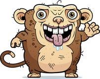 Ugly Monkey Waving Royalty Free Stock Image