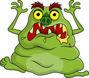 Ugly monster cartoon Stock Images