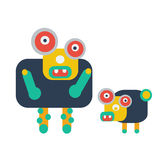 Ugly monster design. Ugly monster and hid pet design Royalty Free Stock Photos