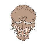 Ugly monster illustration. Creative design of ugly monster illustration Stock Image