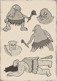 Ugly monster illustration Stock Image