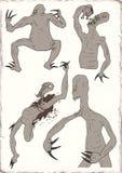 Ugly monster illustration Stock Images