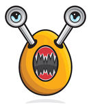 Ugly monster mascot Royalty Free Stock Photo