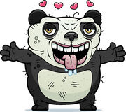 Ugly Panda Hug Royalty Free Stock Photography