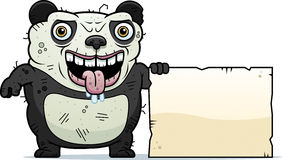 Ugly Panda Sign Stock Images