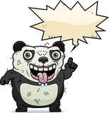 Ugly Panda Talking Stock Image