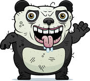 Ugly Panda Waving Royalty Free Stock Photography