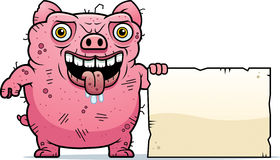 Ugly Pig Sign Stock Photography