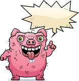 Ugly Pig Talking Stock Photography