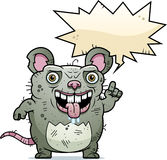 Ugly Rat Talking Royalty Free Stock Image