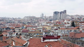 Ugly Roof Top view of Istanbul, Turkey stock video footage