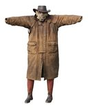 Ugly Scarecrow. A Very Ugly and Frightening Looking Scarecrow stock photography