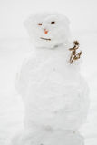 Ugly Snowman Stock Image