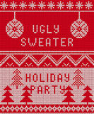 Ugly sweater Background 1 Royalty Free Stock Images