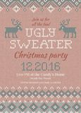 Ugly sweater Christmas party invite.  Royalty Free Stock Image