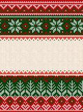 Ugly sweater Merry Christmas party ornament background seamless pattern. Ugly sweater Merry Christmas party ornament. Vector illustration Handmade knitted stock illustration