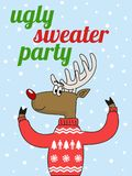 Ugly sweater party vector illustration Royalty Free Stock Photo