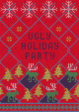 Ugly Sweater Party Stock Photos