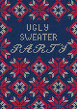 Ugly Sweater Party Stock Photo