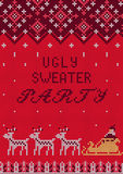 Ugly Sweater Party Stock Photography