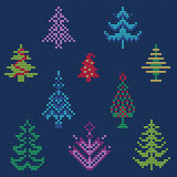 Ugly sweater Pattern. Vector Illustration of Ugly sweater Pattern for Design, Website, background, Banner. Merry christmas Knitted Retro cloth with Christmas Royalty Free Stock Photos