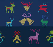 Ugly sweater Pattern Royalty Free Stock Images