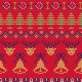 Ugly sweater Pattern. Vector Illustration of Ugly sweater seamless Pattern for Design, Website, Background, Banner. Merry christmas Knitted Retro cloth with Royalty Free Stock Photography