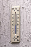 Ugly thermomete. On the ugly wall Royalty Free Stock Image