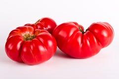Ugly tomatos. On white background Stock Photo