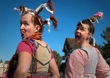 Ugly Wenches at Arizona Renaissance Festival. royalty free stock photography