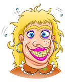 Ugly woman vector illustration