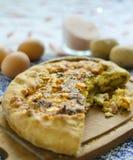 Ugn bakade syrliga grönsaker och ägg Royaltyfri Foto
