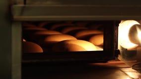 Ugn med bröd arkivfilmer