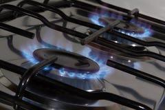 Ugngasbrännare med spisgallret Royaltyfri Foto